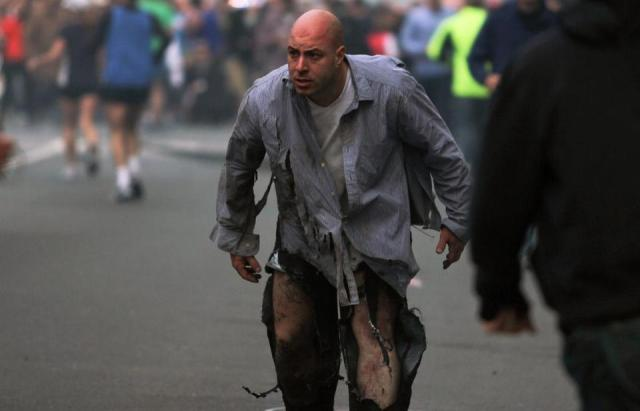 Explosión en la maratón de Boston Foto de Boston Globe