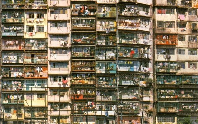 Edificio atiborrado de viviendas