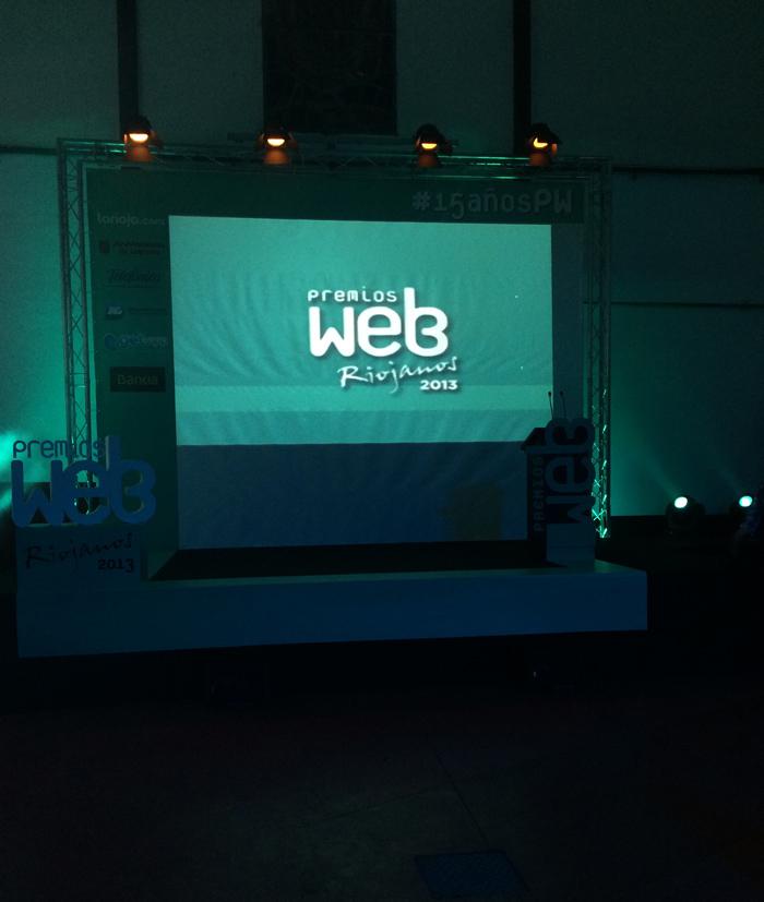 Escenario de los Premios Web Riojanos